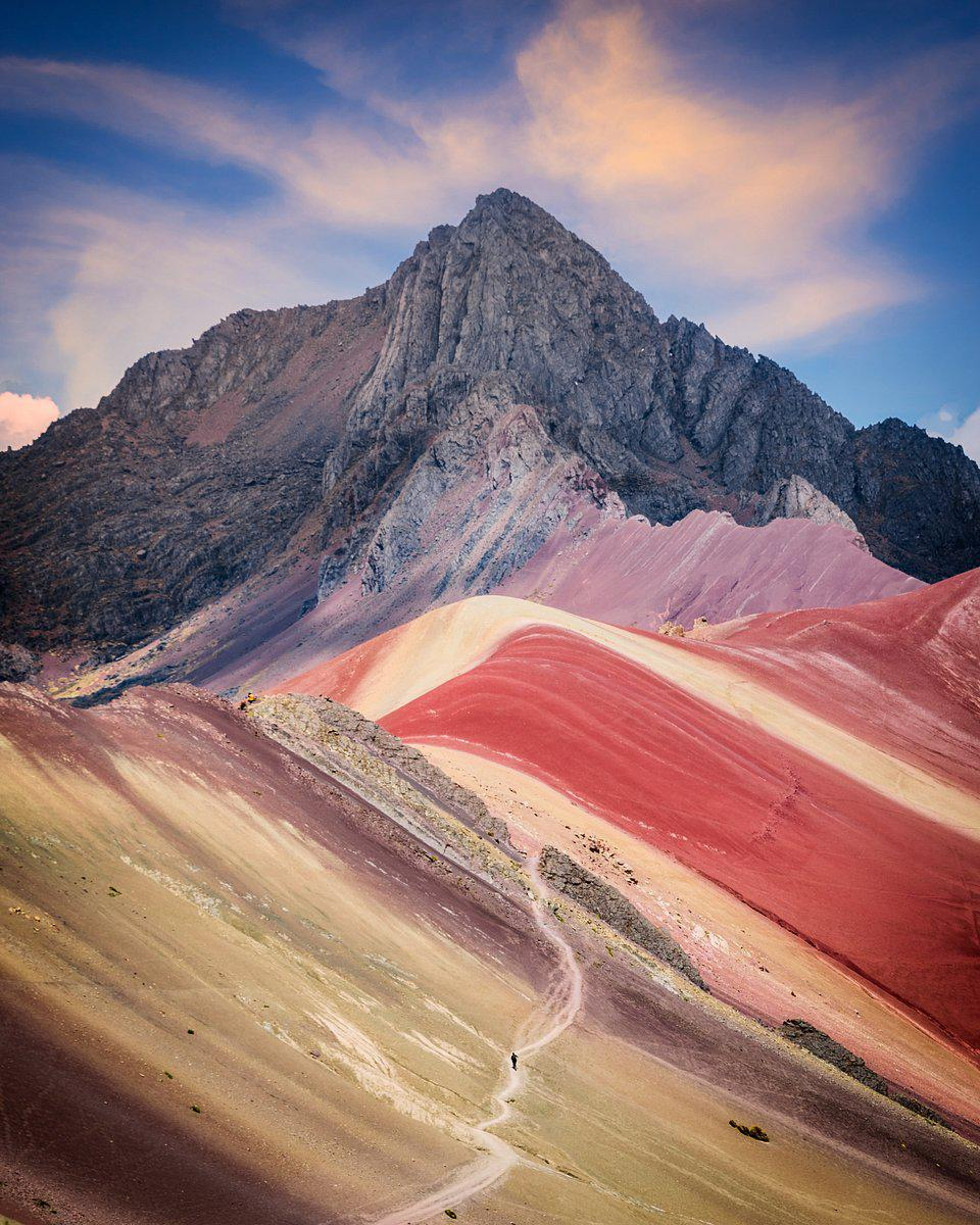 colorful mountains in Peru