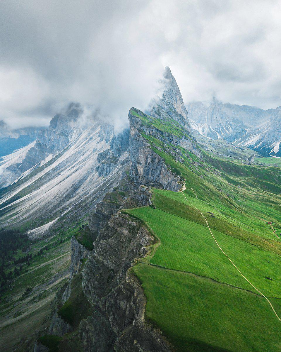 the Dolomites mountains in Italy