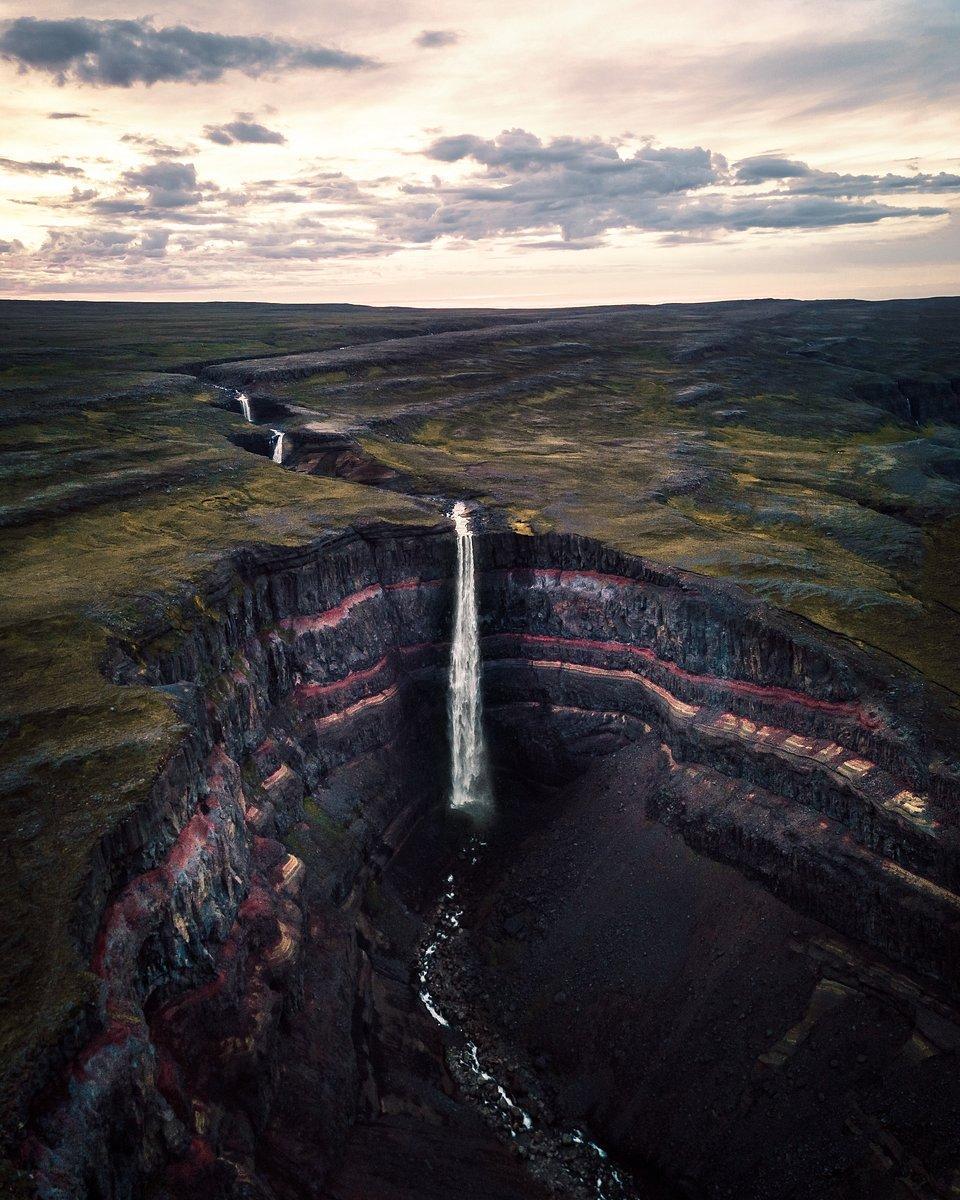 midnight sun on Iceland's waterfalls