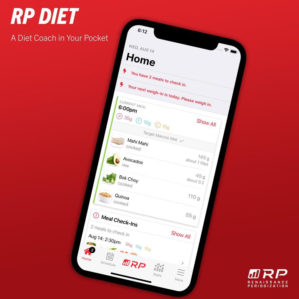 diet meal plan The RP Diet app