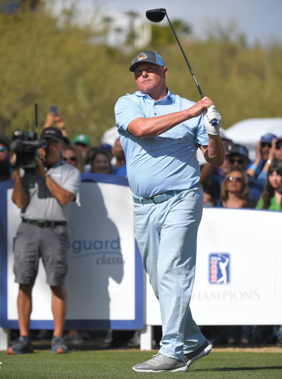 Roger Clemens, this weekend at the Cologuard Classic's Celebrity Challenge