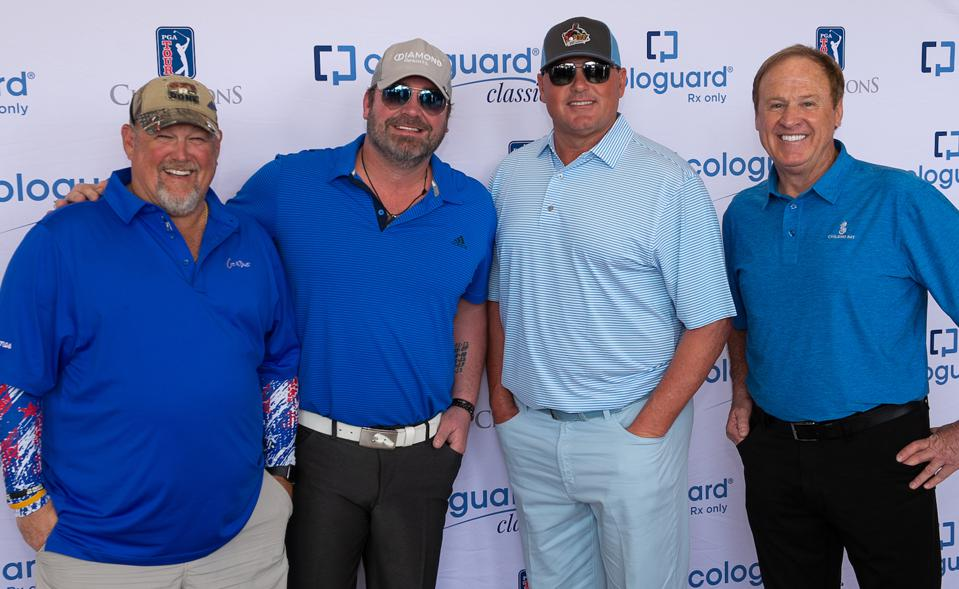 Larry The Cable Guy, Lee Brice, Roger Clemens, and NASCAR's Rusty Wallace.