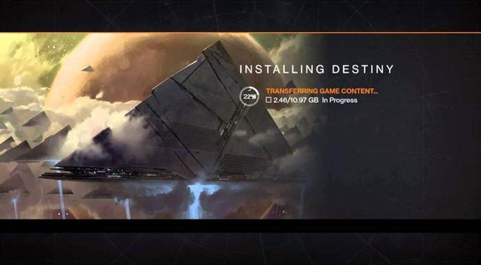 The Destiny 1 (!) install screen