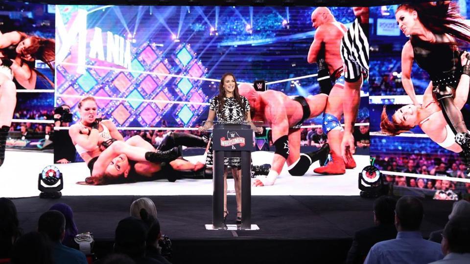 Stephanie McMahon coronavirus WrestleMania 36 WWE