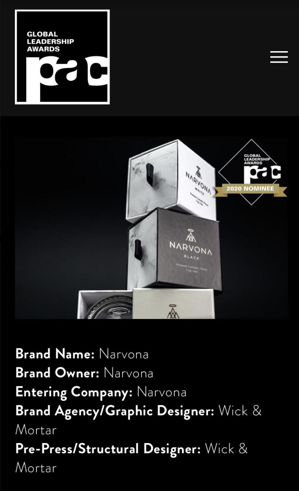 Narvona's Award Info