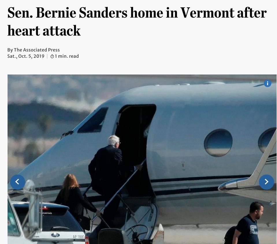 Bernie Sanders private jet