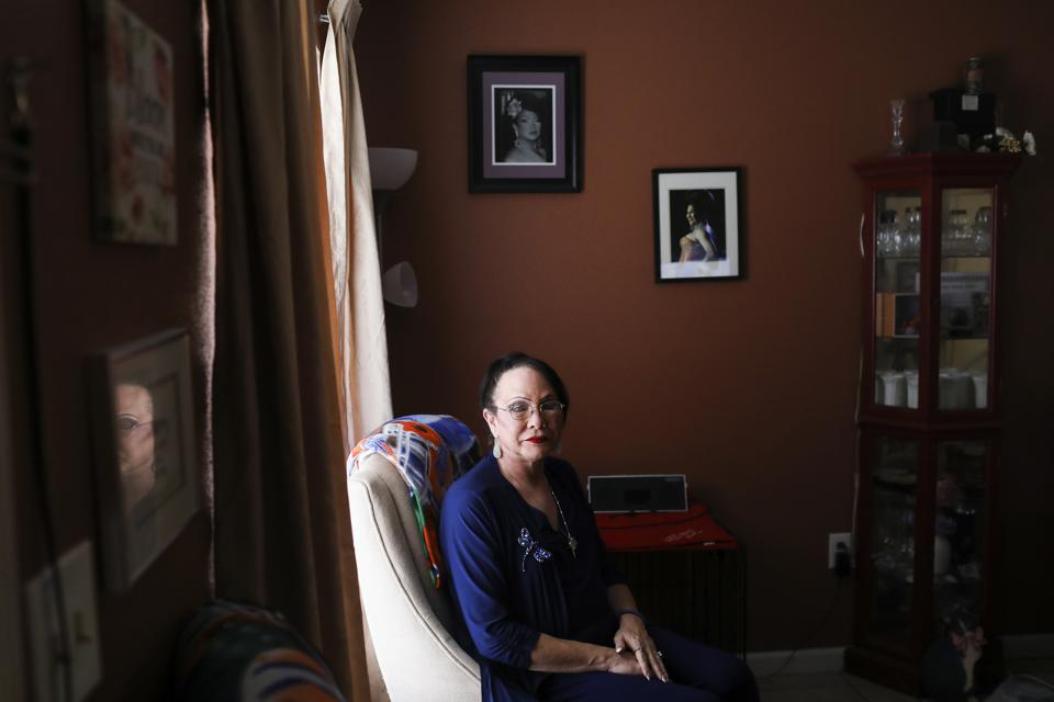 Portrait of Stephanie Stuart at home in New Port Richey, Fla.