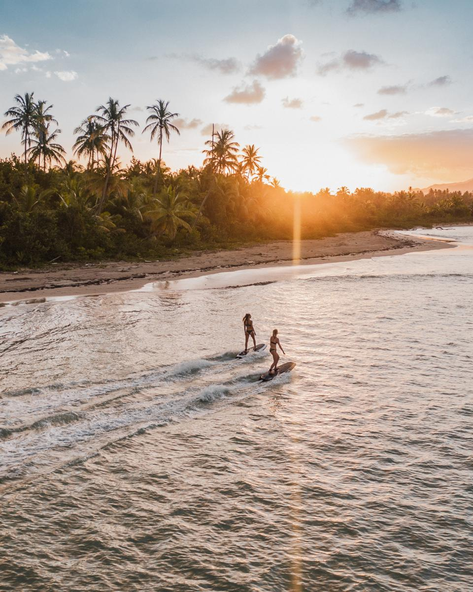 Jet surfing in Dominican Republic.