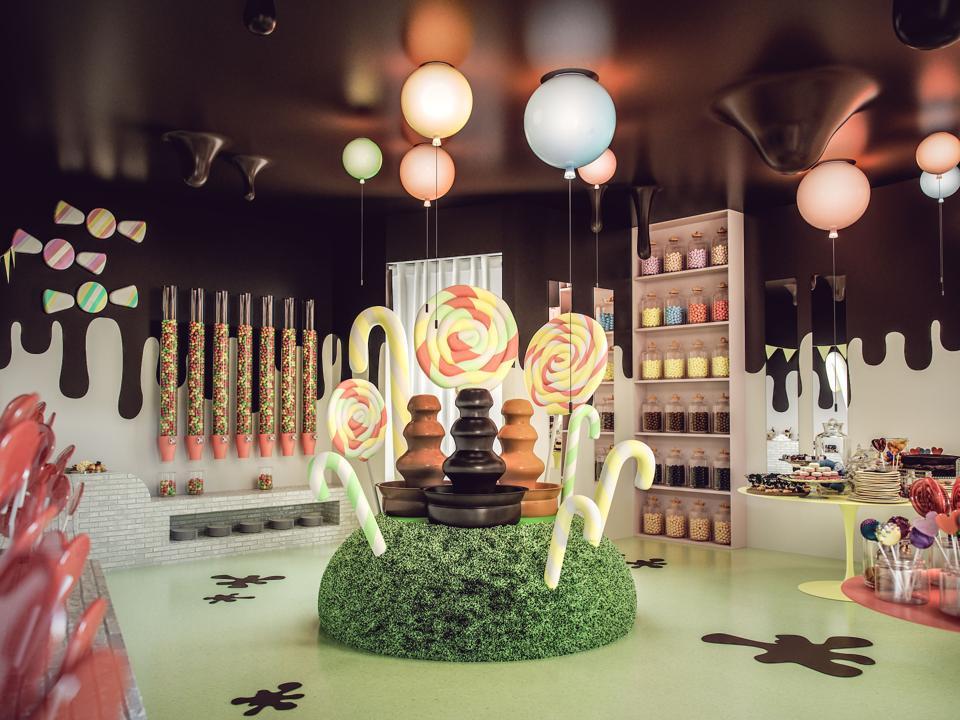 Chocolate candy shop