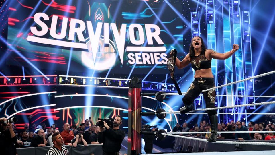WWE Survivor Series 2019: Shayna Baszler celebrates