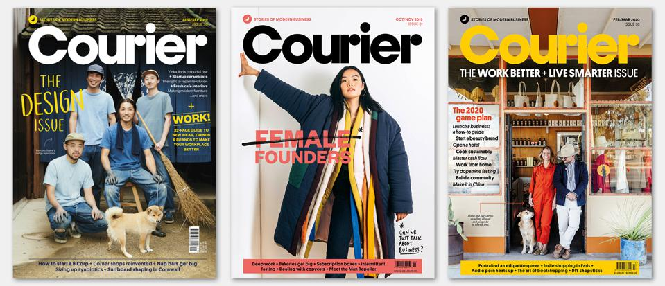 Courier, based in London, was founded in 2013 to inform entrepreneurs.