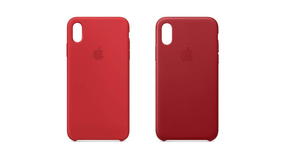 iPhone Xs (Product) RED silicone and leather