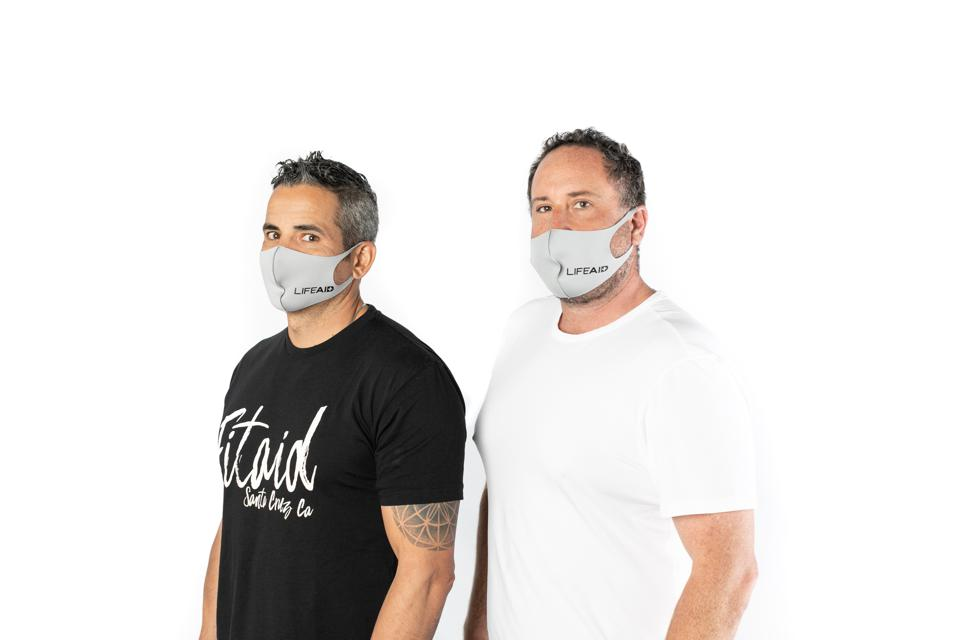 The cofounders of nutrition beverage brand Lifeaid, one of whom is a medical doctor,  planned to pass out 3,000 branded surgical masks at Expo West, which ended up being canceled on Monday evening.