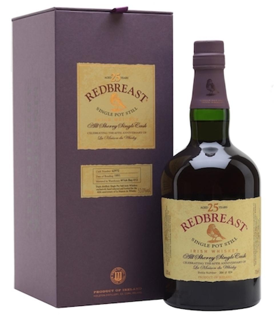 Best Irish Whiskeys_Redbreast 25 Year Limited Edition