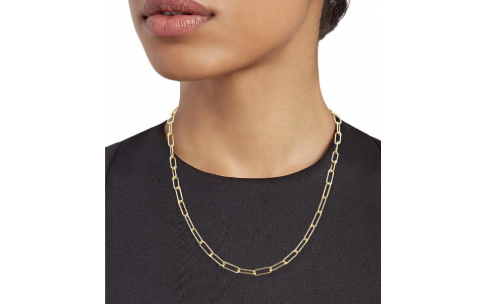 Saks Off 5th x Girls Inc Gold Vermeil Paperclip Necklace