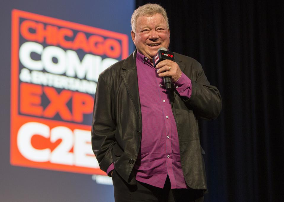 William Shatner holds court on stage during a C2E2 panel. Sunday, March 1, 2020 at McCormick Place in Chicago, IL (Photo by Barry Brecheisen)