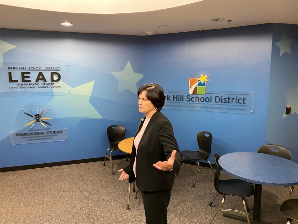 Park Hill Superintendent Dr. Jeanette Cowherd visits LEAD Innovation Studio