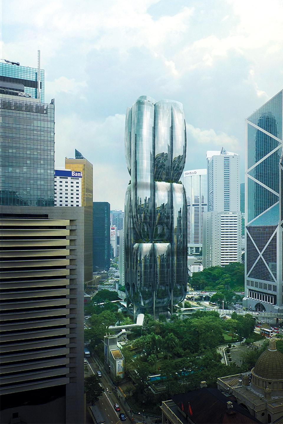 Murray Road project (artist rendering) in Hong Kong's Central district.