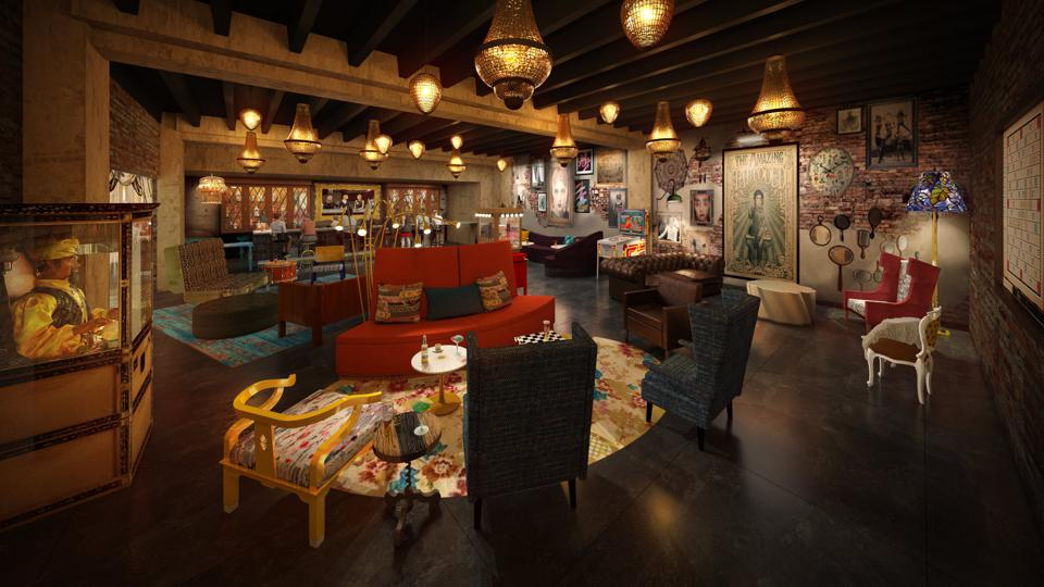 Wayfarer features Lilly Rose, a well decorated underground bar.