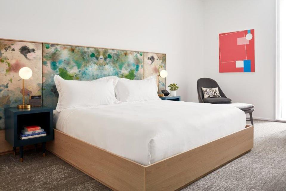 The Quirk Hotel uses art and history as central design elements.