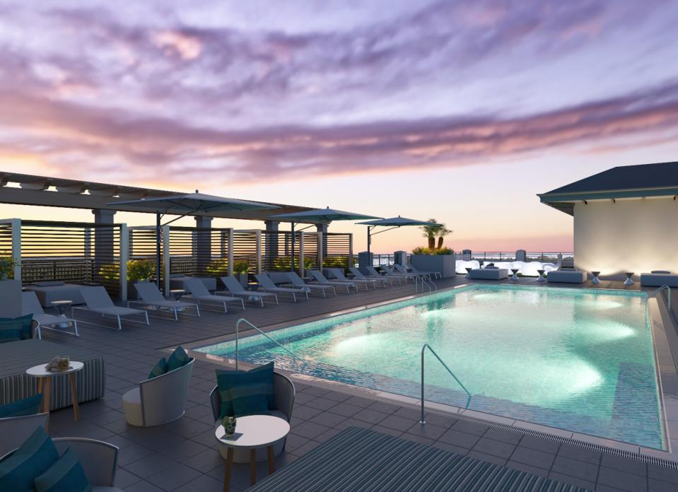 Hotel Effie boasts the only rooftop pool throughout Florida's Emerald Coast.