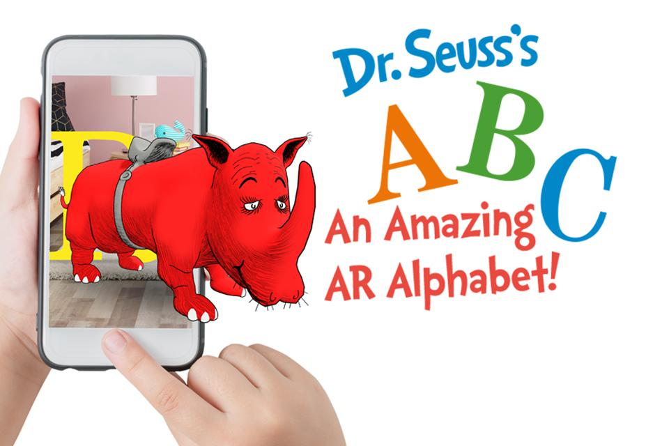 Dr. Seuss's ABC—An Amazing AR Alphabet! is the first AR app from Dr. Suess Enterprises