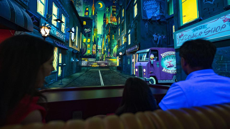 Runaway Railway gives guests the impression that they are traveling into a cartoon