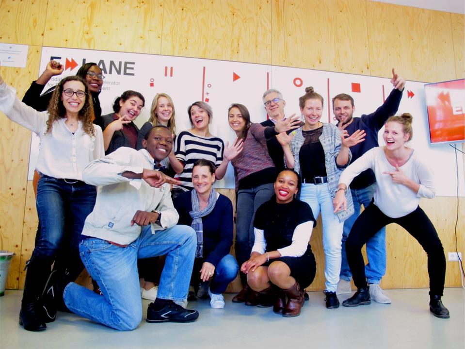 Group photo of F-LANE