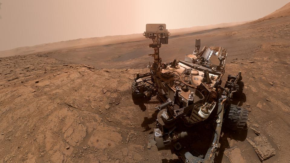 NASA's Curiosity rover took this selfie on Oct. 11, 2019.