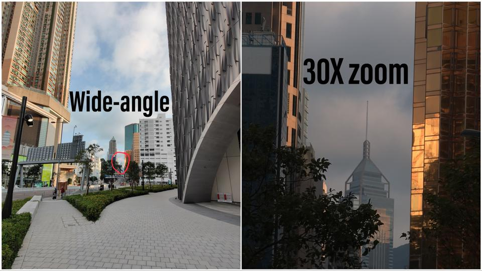 Oppo Find X2 Pro's 30X zoom.