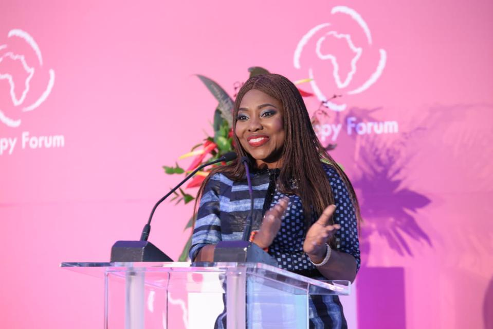 Layode at the African Philanthropy Forum in 2018