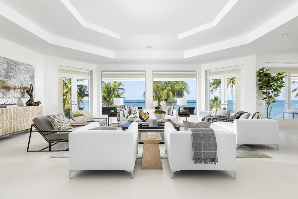 Living room in Key Largo, Florida
