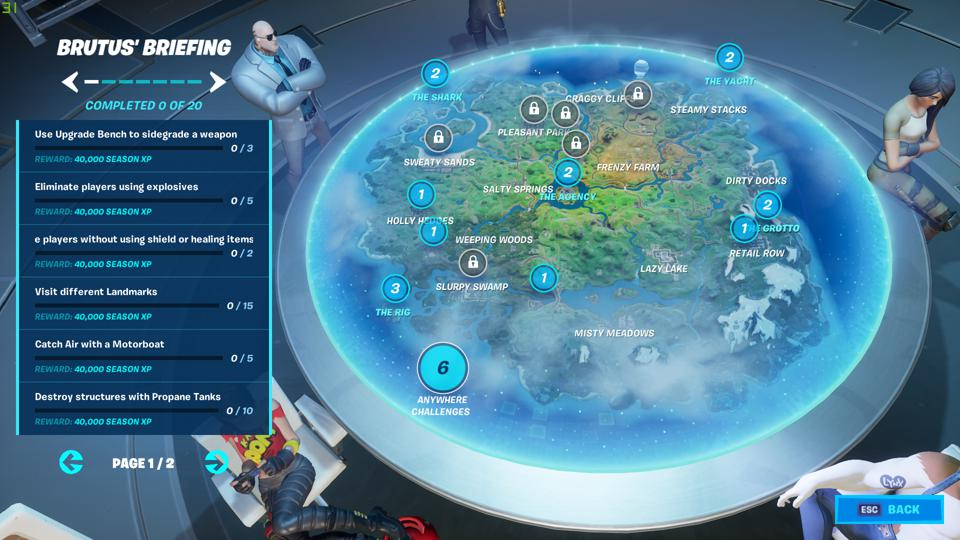 Fortnite TNTina's Challenges