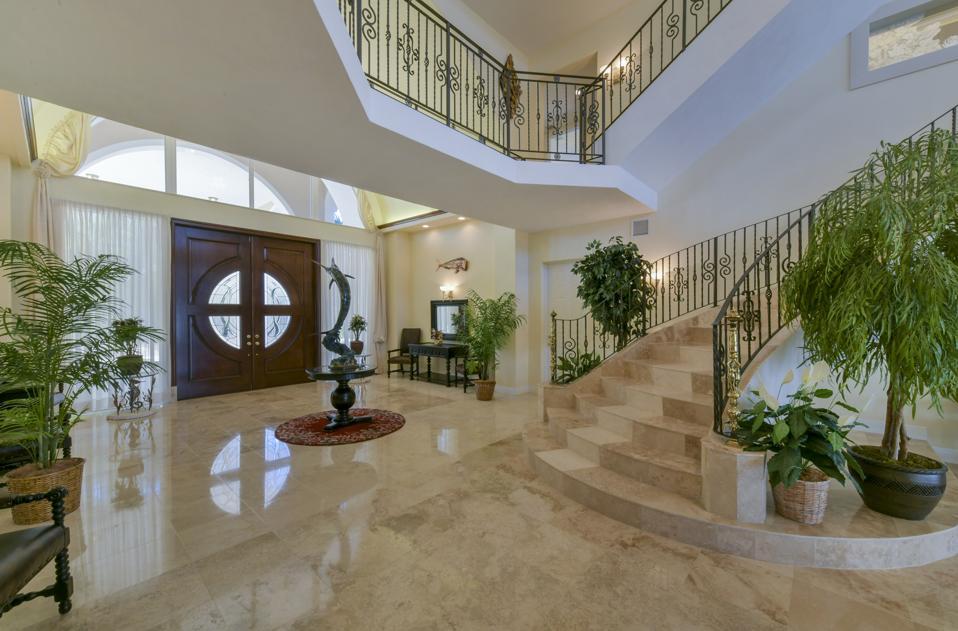 Grand entryway in Florida