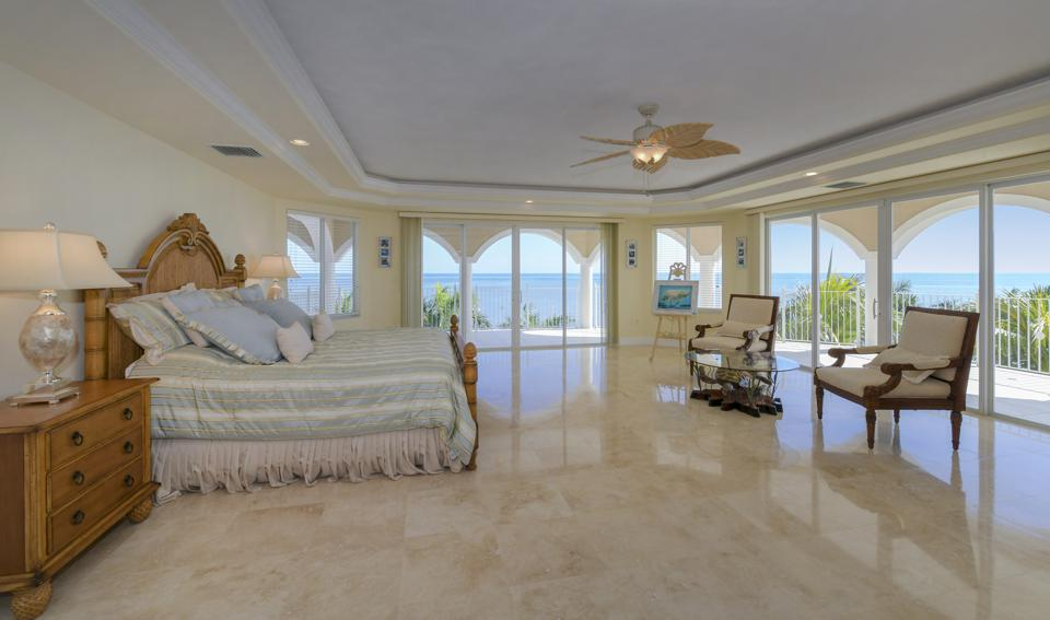 Master bedroom in Florida home