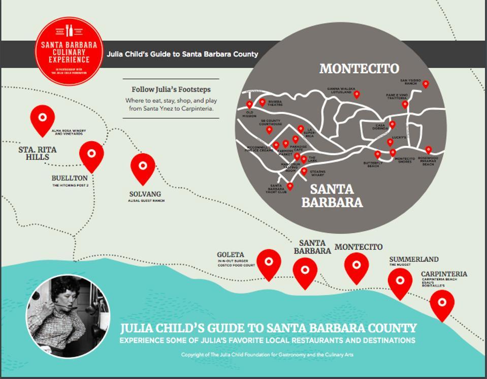 Julia Child's Guide to Santa Barbara County.
