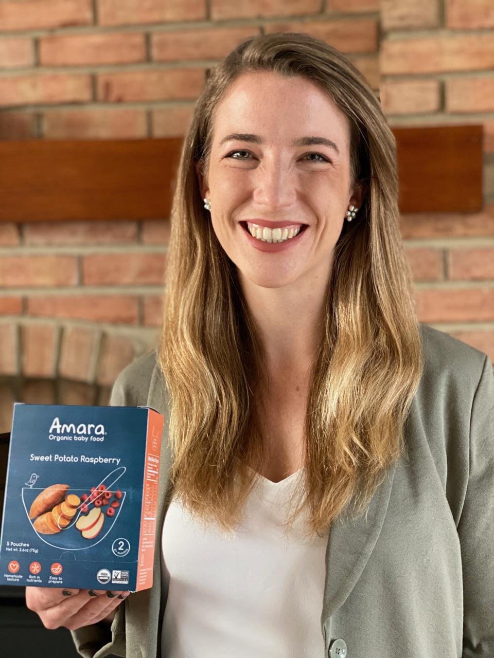 Amara Organic Baby Food founder and CEO Jessica Sturzenegger
