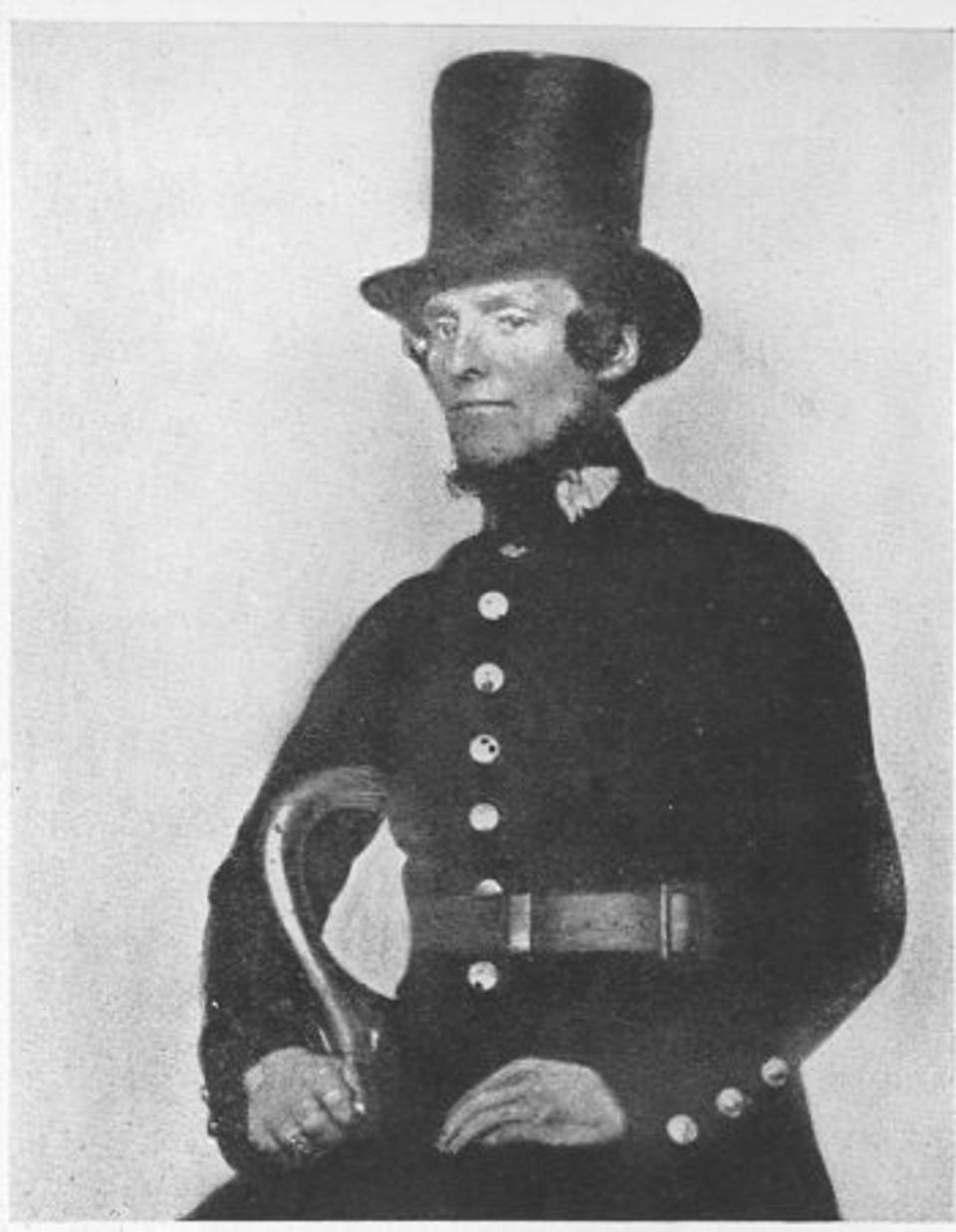 A Met policeman, ″peeler″ from the 19th century