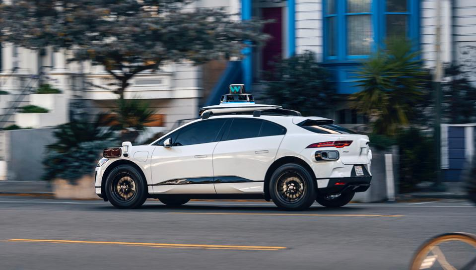 Waymo has added the electric Jaguar I-PACE, outfitted with its fifth-generation sensor and computer tech, to its autonomous fleet.