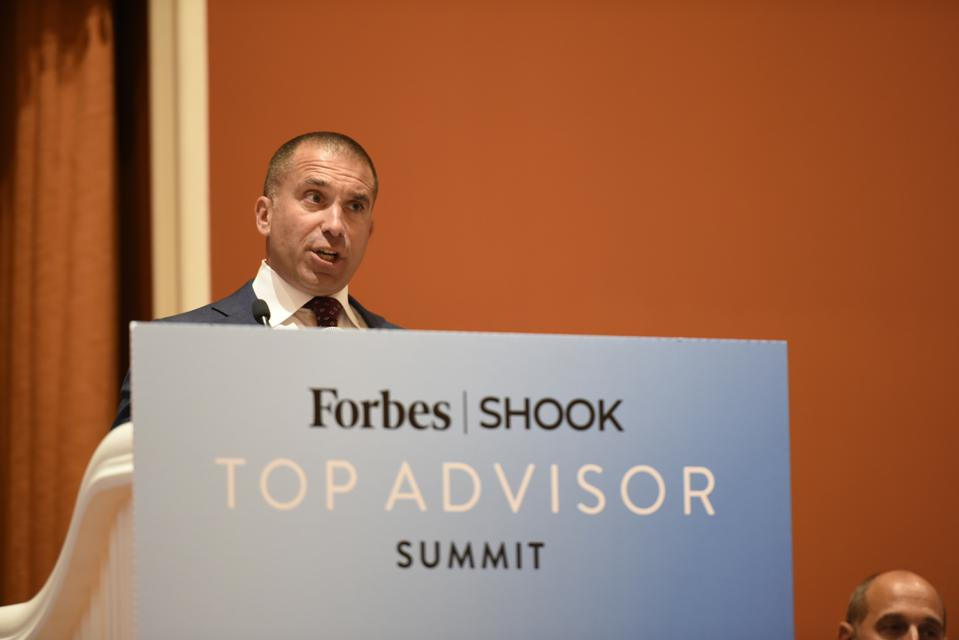 William Rose speaks about his affinity for ″just because″ calls at the Forbes/SHOOK Top Advisor Summit.