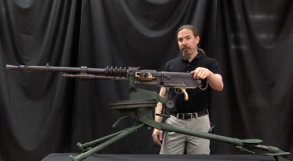 Ian McCollum of Forgotten Weapon with a Hotchkiss machine gun