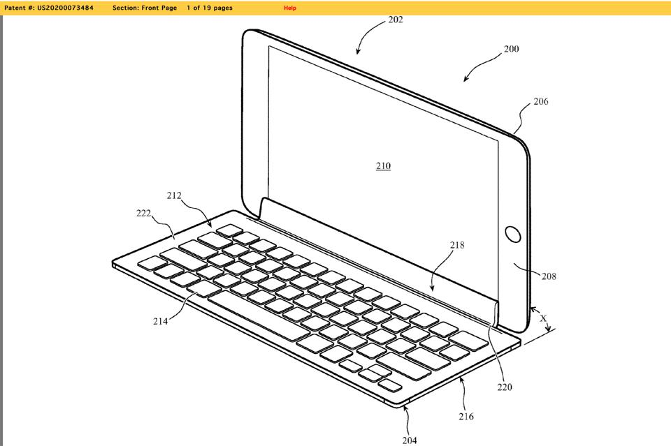 A newly revealed patent shows a possible new iPad keyboard