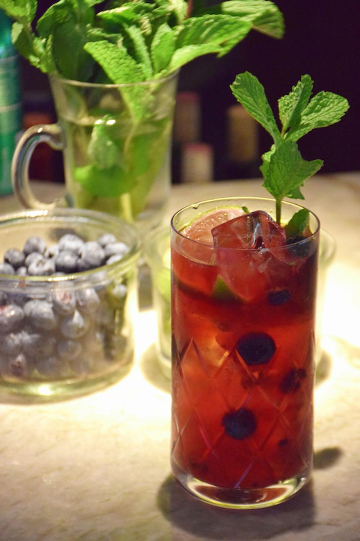 Baby Health in Winter Pomegranate Nojito at ATRIO Wine Bar & Restaurant in New York City.