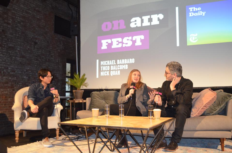 The first panel at On-Air Fest