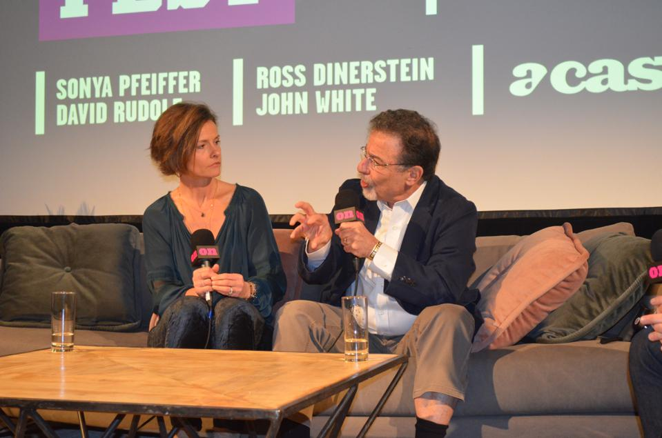 Sonya Pfieffer and David Rudolph in discussion