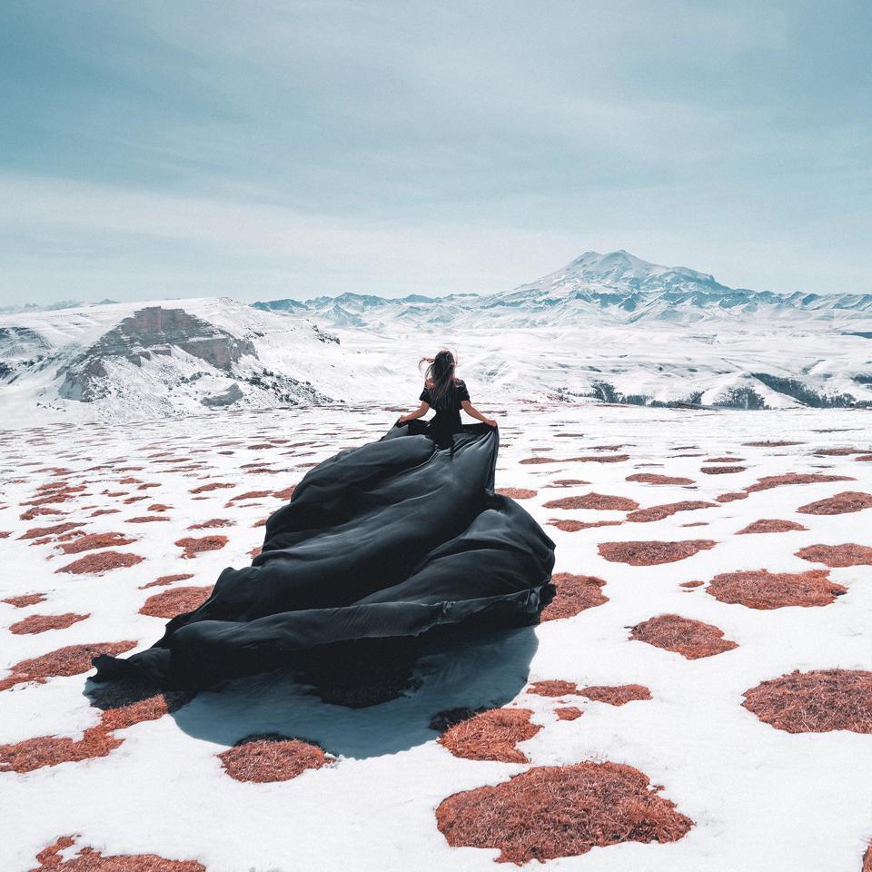 Woman in Mount Elbrus, Russia