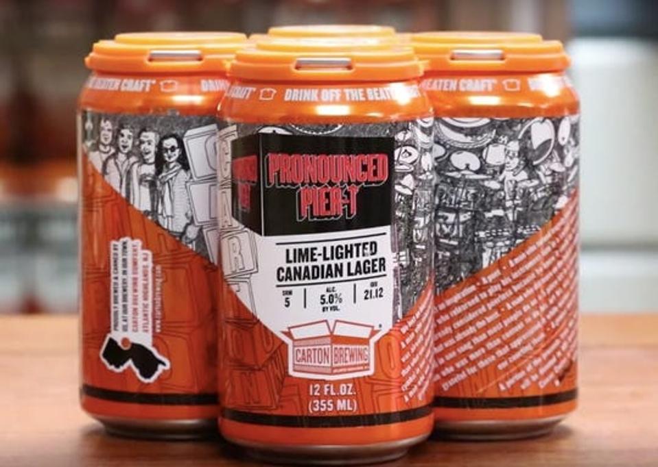 4-pack of Pronounced Pier-T beer