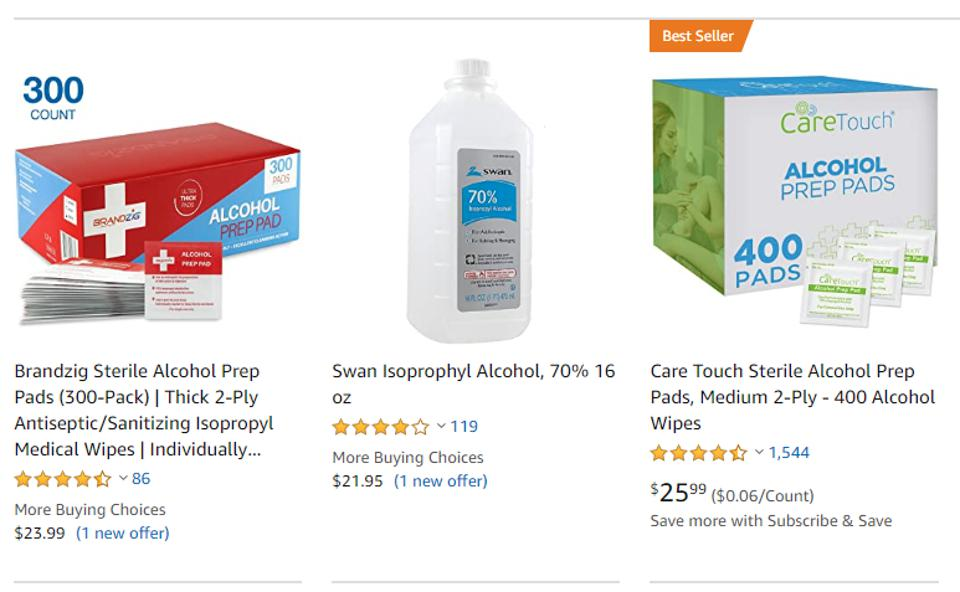 Search result for 70% isopropyl alcohol
