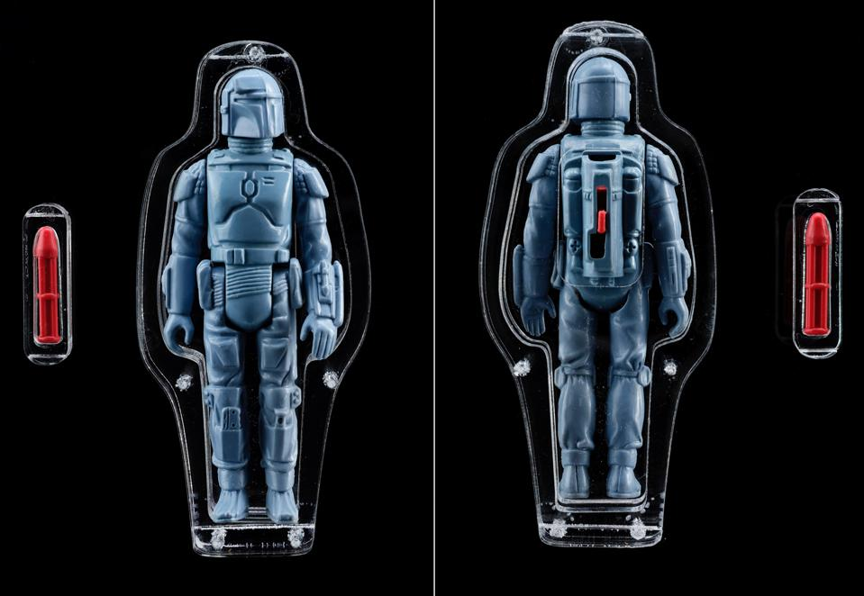 Star Wars, auction, Boba Fett, Rocket-Firing Prop Store, The Mandalorian, investment, toys