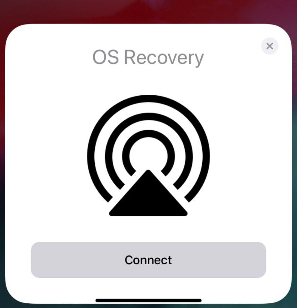 Is this screen shot a sign of how OS recovery will happen